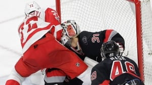 Hurricanes' Eddie Lack out of hospital after straining neck