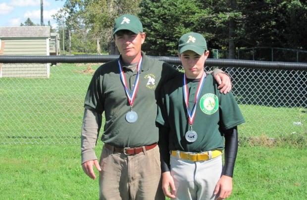 Eric Donovan and his son