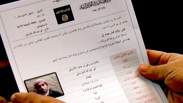 Calgarian Salman Ashrafi filed this paperwork with ISIS, indicating he wanted to be a martyr.