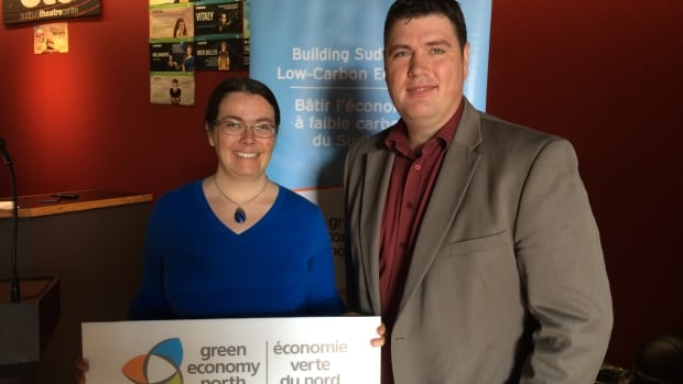Rebecca Danard and Richard Eberhardt from Rethink Green, released Sudbury's first Business Energy and Emissions Profile (BEEP). It says the 3,000 small and medium sized businesses in the city have a combined total emissions of 254,000 tonnes of carbon dioxide (CO-2) per year.