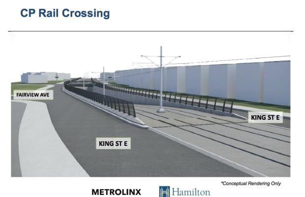 LRT CP rail crossing