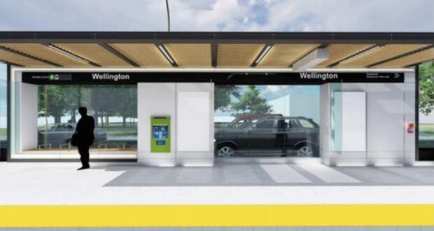 Wellington LRT stop