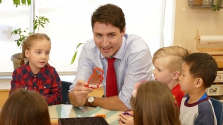 Justin Trudeau at Winnipeg daycare