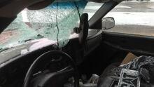 Ice fell through windshield