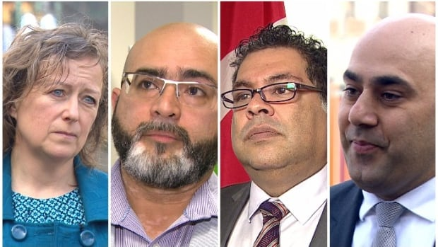 From left to right: Kim MacDonald, Mukarram Zaidi, Naheed Nenshi and Nader Khalil are all pushing back against Islamaphobia and radicalization.