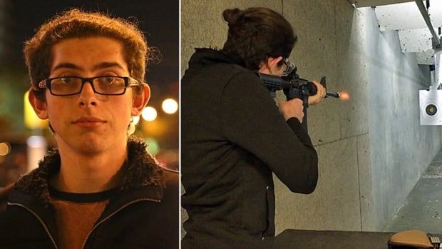 Evan Fowler, 22, fires an AR-15 rifle at the Frisco Gun Club in Frisco, Texas. Fowler is the founder of the Dallas chapter of the Pink Pistols, a gun-rights club for LGBT people. The national organization has experienced an uptick in membership since the election of President Donald Trump.