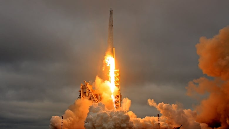465981c99f547e SpaceX will attempt to reuse a Falcon 9 rocket like this one that launched  a supply mission to the International Space Station on February 19