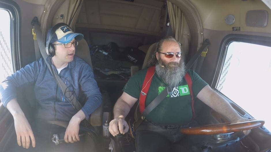 Brett Purdy hit the highway for three days with his estranged father, Ray Purdy.