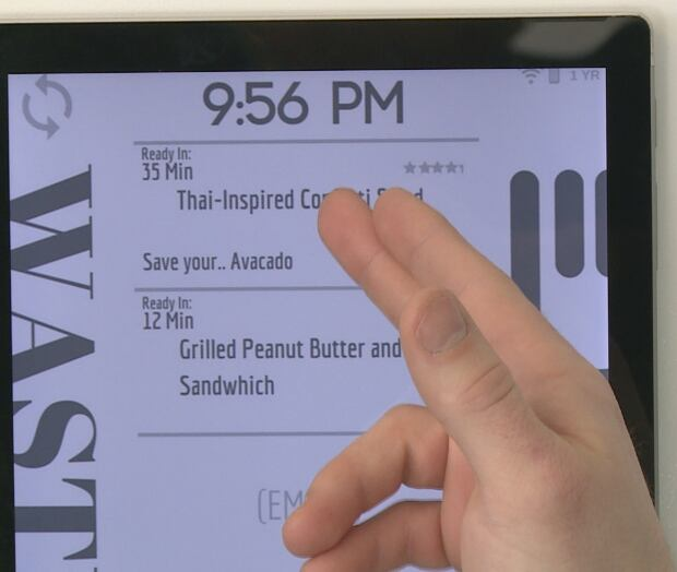 Food waste tablet