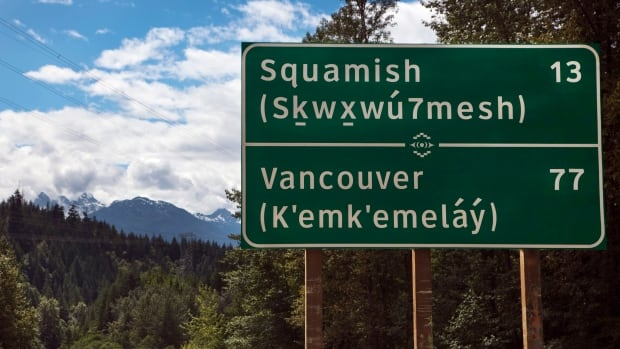 British Columbia Road Sign