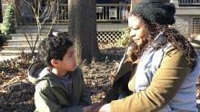 Samantha Kemp-Jackson and her son Erik