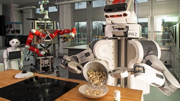 Computer scientist Geoffrey Hinton is keen on developing new approaches to machine learning rather than merely building on existing techniques like those used by this popcorn-making robot.