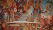 Murals at Bonampak, depicting Mayan warfare.
