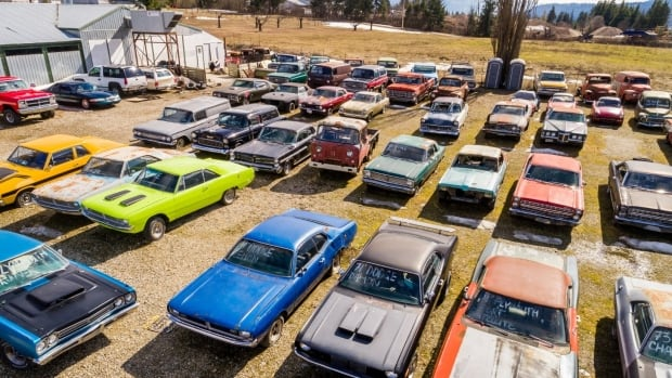 A Shuswap-area acreage is on sale with an interesting feature — more than 340 vintage cars!