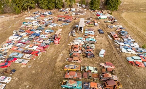 Overhead shot car acreage