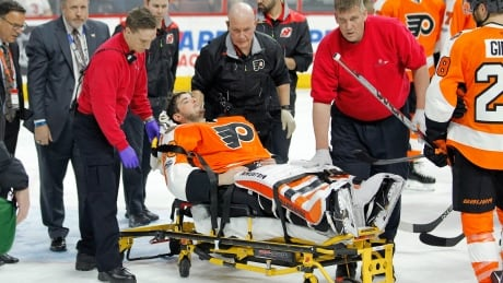 Flyers' Neuvirth Taken To Hospital After Collapsing On Ice