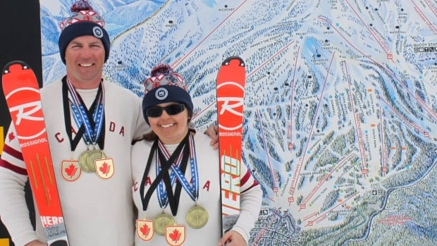 Visually impaired athlete Brenda MacDonald and Stephen MacDonald, her father and guide, came home to Nova Scotia this weekend with gold medals from para-alpine racing nationals in California.