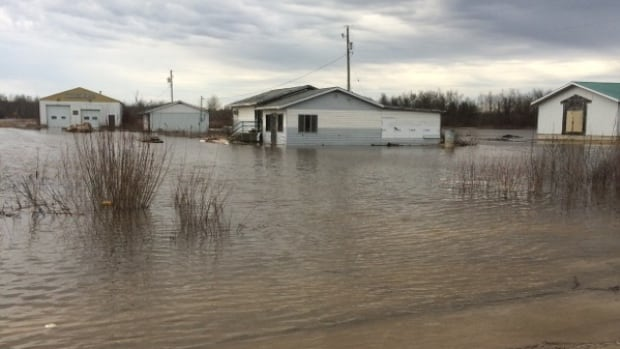 More than 380 people remain displaced due to flooding from Manitoba First Nations, including people from Peguis First Nation, seen here.