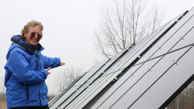 Heather Bishop says she is still impressed every time she sees the 64 solar panels installed on her rural Manitoba property.