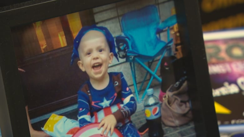 05e994919b5 Brody Birell-Gruhn, 3, loved superheroes. He died after battling childhood  cancer in 2015. (Cliff Simpson/CBC)