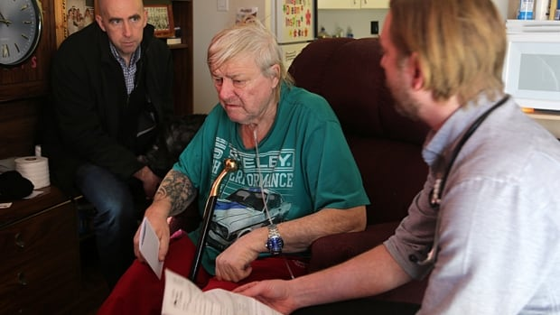 Tim O'Shea and Christian Kraeker visit Freddy Devine, a 73-year-old patient who struggles with a lack of support since getting out of prison after 28 years.