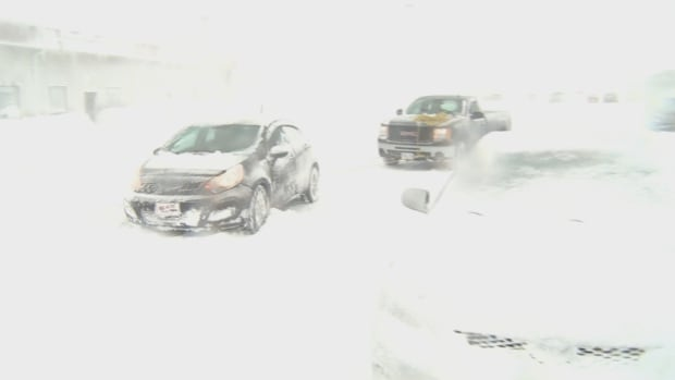 Heavy snow and high winds hampered driving conditions, especially in Central Newfoundland.