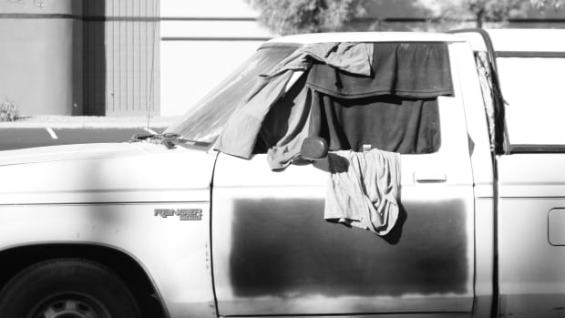 A non-profit rural action group says some people are sleeping in their vehicles in rural Alberta.