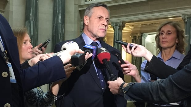 Education Minister Don Morgan told reporters he was surprised regional libraries laid off workers before going back to municipalities to ask for more money.
