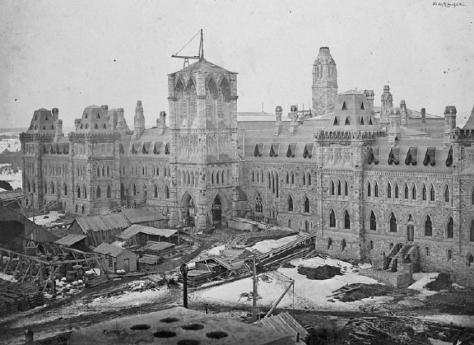 original parliament buildings ottawa circa 1865