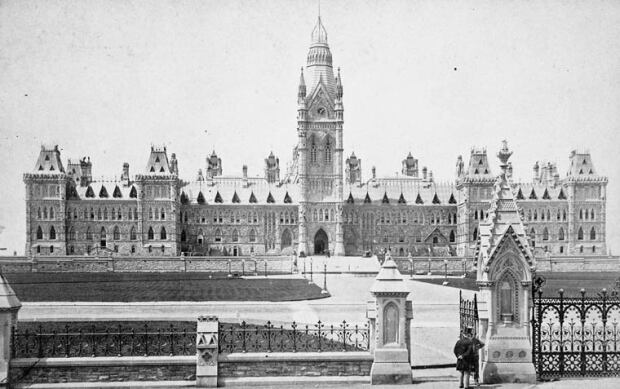 Parliament buildings Ottawa 1884