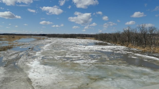 Assiniboine River in Brandon - April 4, 2017
