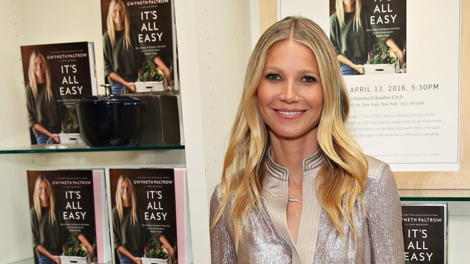 Actress Gwyneth Paltrow signs copies of her book It's All Easy, her followup to 2013's It's All Good.