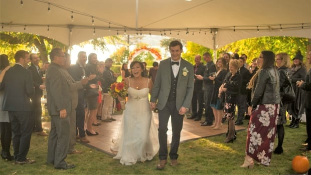 Janelle and Chad Rimell tried to keep costs down for their wedding last fall in Vernon, B.C., but the final tally was $15,000, almost double their budgeted amount.