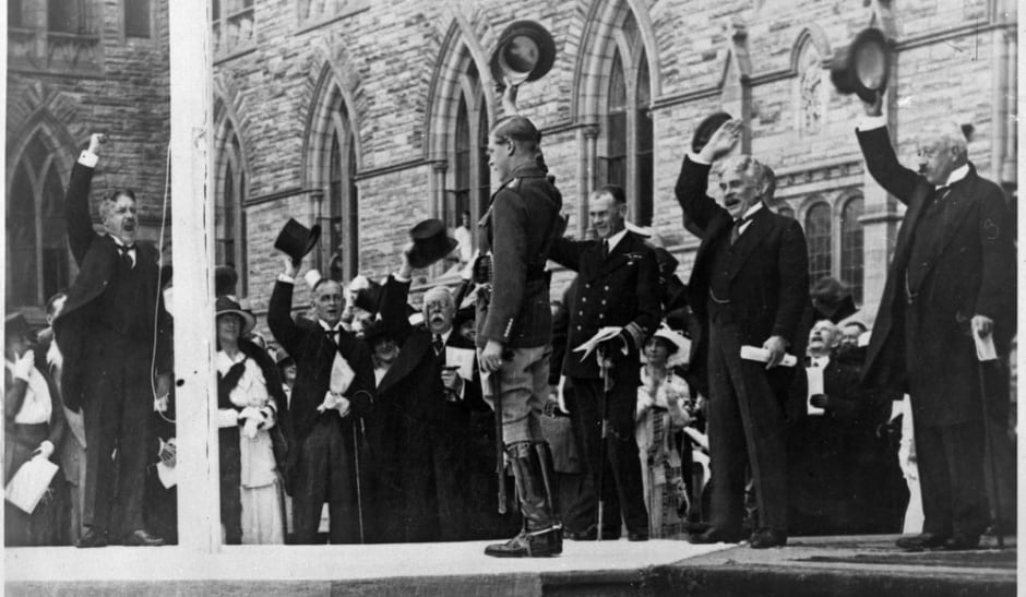 Edward prince of wales laying cornerstone of peace tower ottawa 1919