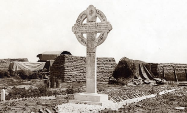 Canadian Vimy wooden cross