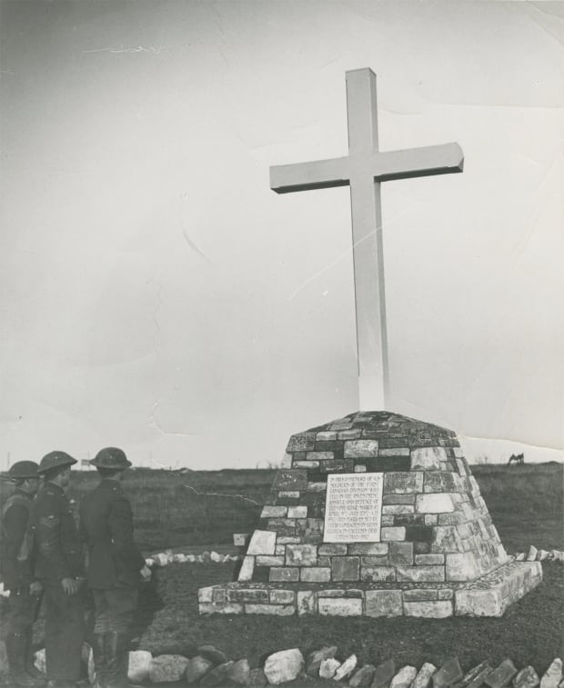 Early memorial at Vimy