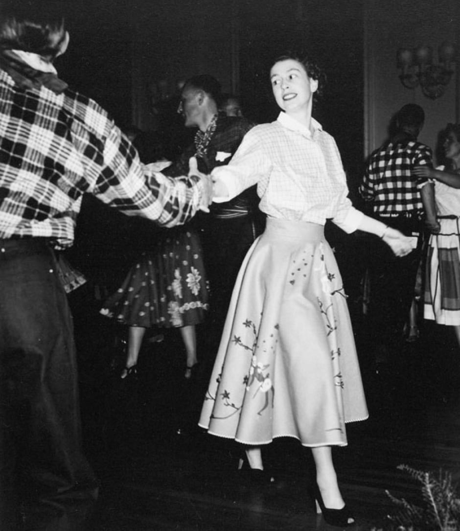 Princess Elizabeth square dancing at Rideau Hall 1951