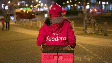 Foodora courier