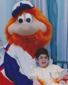 Steven Francis with Youppi