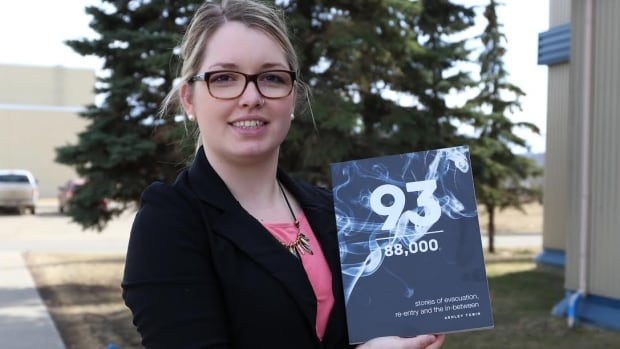 Ashley Tobin wrote a collection of essays about the many stories of evacuation and re-entry during the Fort McMurray wildfire.