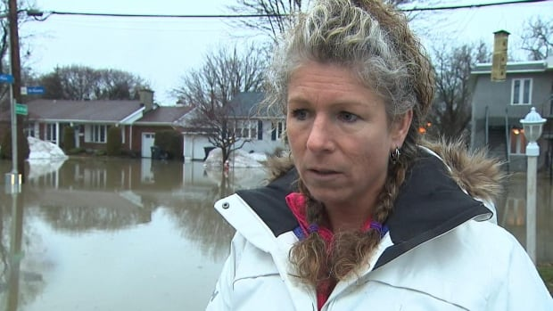 Isabelle Aumont's basement has 10 centimetres of water in it. Hers was one of 30 homes in Sainte-Thérèse evacuated overnight due to the rising levels of nearby waterways.