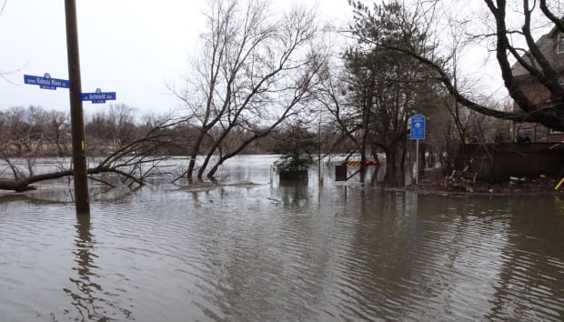 Old Ottawa South Rideau River flooding April 7 2017