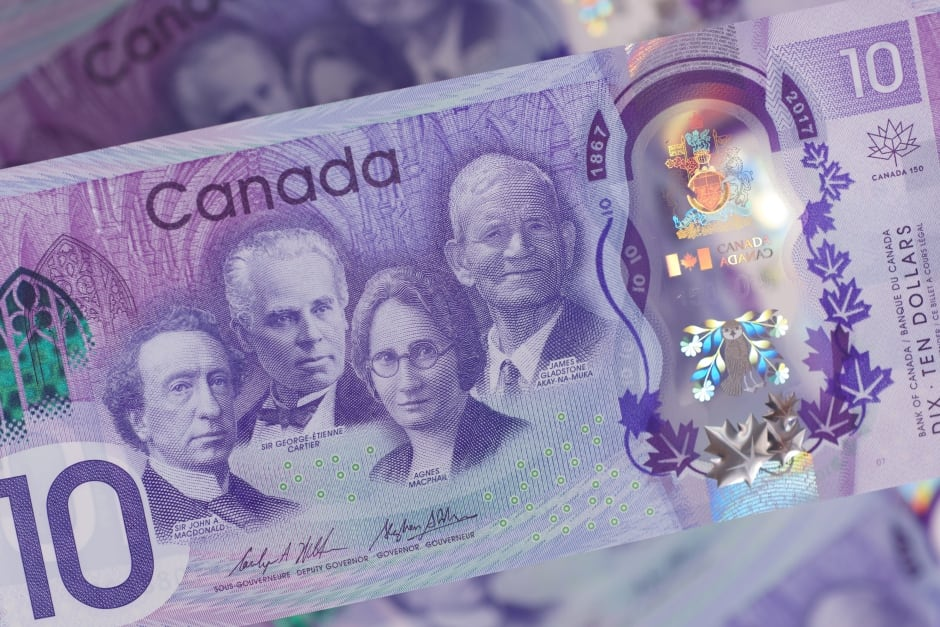 The $10 commemorative banknote for Canada's sesquicentennial