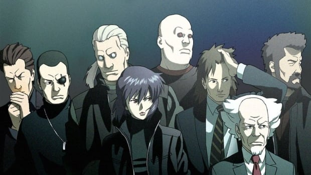 The cast of Ghost in the Shell, as they appear in Production I.G's Stand Alone Complex animated series.