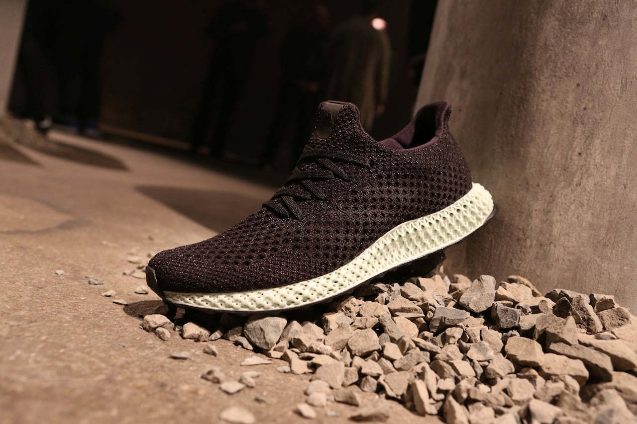 f54b63489 Adidas unveils 3D-printed shoe with Silicon Valley startup