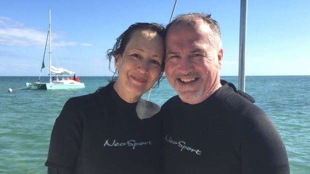 Kathryn Kelly and Neil Crone finally made it to Florida — 12 hours later than expected due to being bumped from their Air Canada flight.