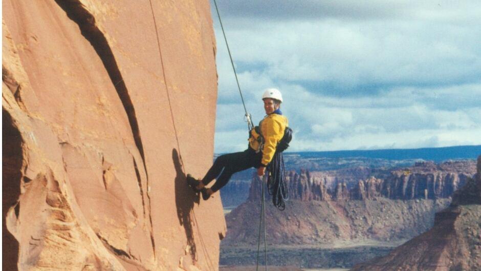 Ellen Nordberg climbing in Utah