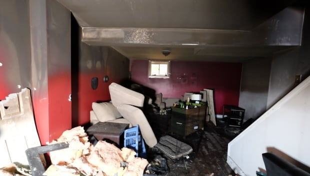 living room after