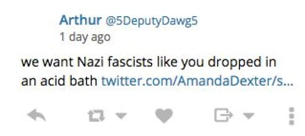Amanda Dexter acid bath twitter boycott trump