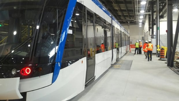 This was ION's first LRT car for the Waterloo Region that was tested in the spring of 2017.